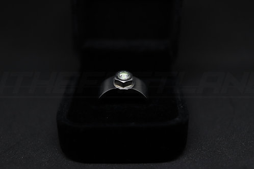Silver Kryptonite CZ Nut Ring - Nthefastlane