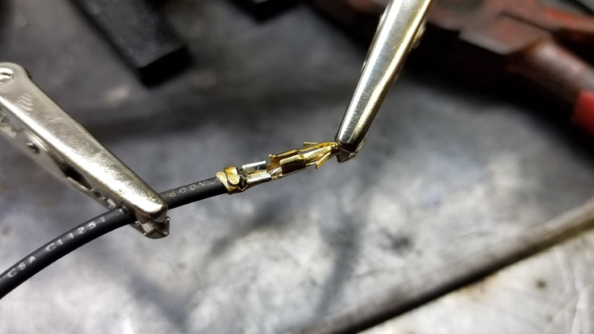 Soldered Boost Controller Pin To Wire