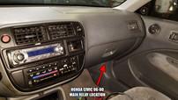 Main Relay location Honda Civic