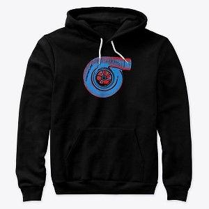 Premium Pullover Hoodie Turbo Blue-Red Nthefastlane