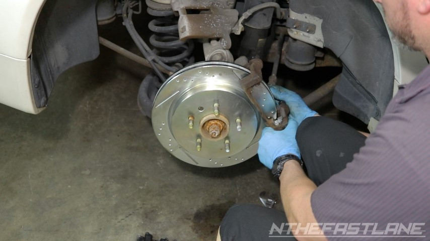Install carrier and torque bolts