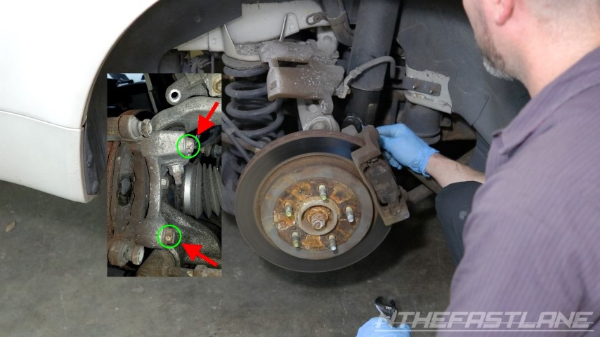 Removing bolts that go through spindle