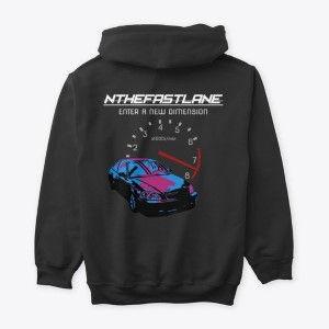 Classic Pullover Hoodie Honda Civic Blue-Pink Nthefastlane