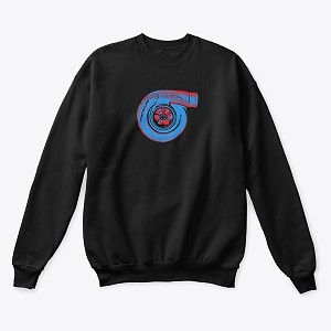 Classic Crewneck Sweatshirt Turbo Blue-Red Nthefastlane
