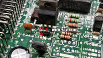 1A 100V 1N4002 Diode White-Silver Line Location