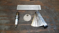 Spark plug and two measuring tools