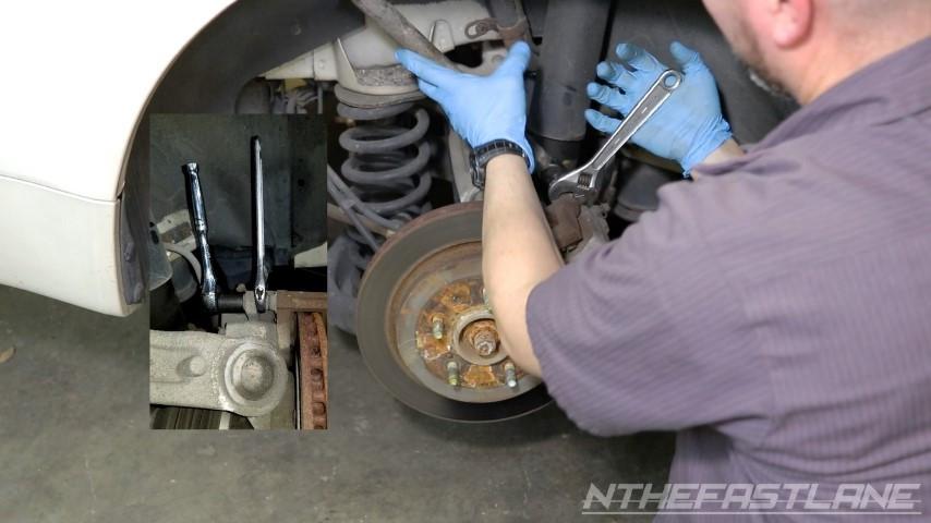 Removing brake caliper slider bolts