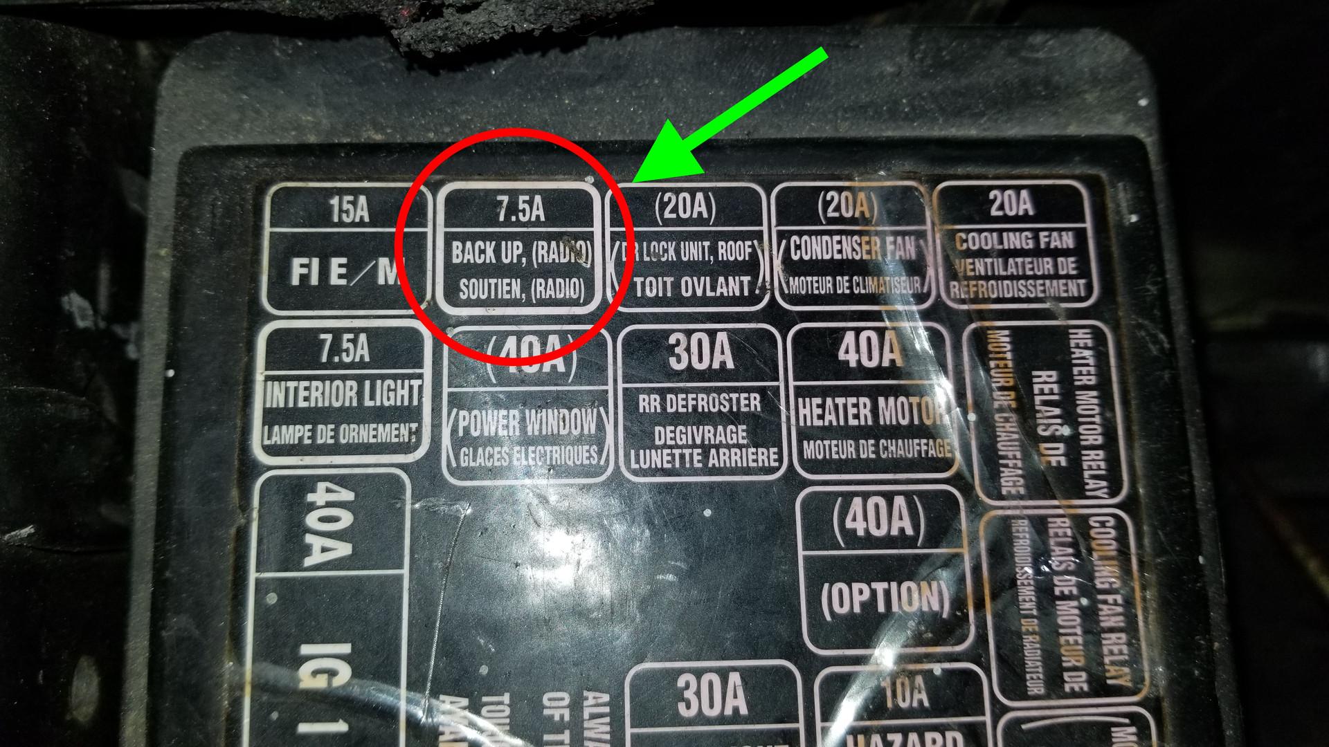 Honda Fuel Pump Fuse Location