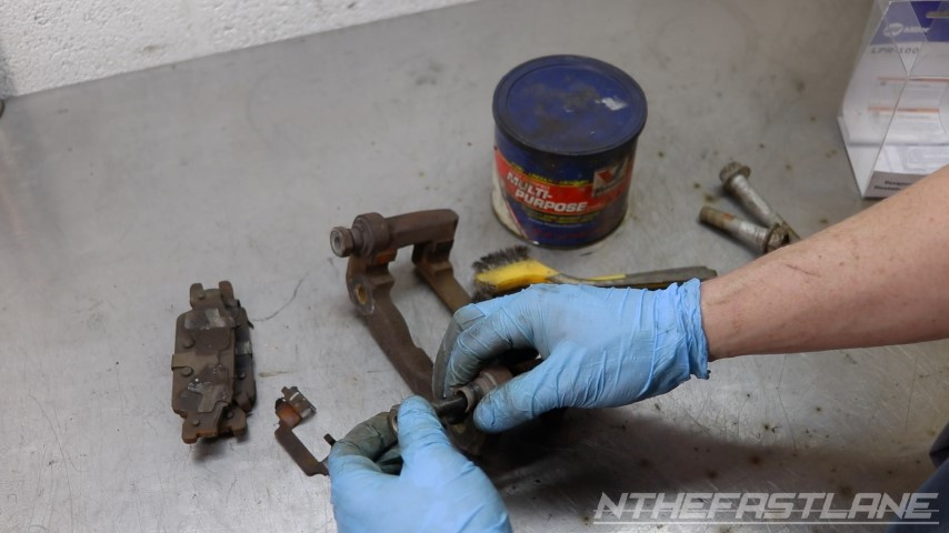Removing slider bolt