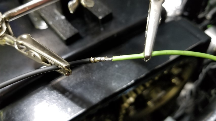 Soldered  Wire Together For 12V Wire