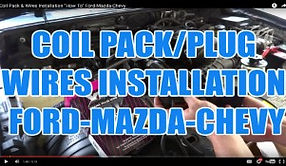 COIL PACK &PLUG WIRES INSTALLATION FORD-