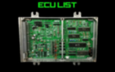 Honda Ecu Identification List