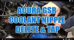 ACURA GSR COOLANT NIPPLE DELETE & TAP.jp