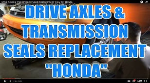 DRIVE AXLES & TRANSMISSION SEALS REPLACE