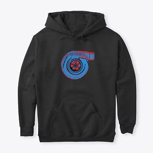 Classic Pullover Hoodie Turbo Blue-Red Nthefastlane