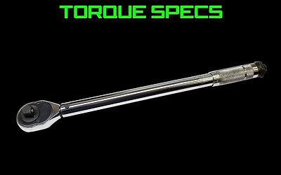 Honda Torque Specs
