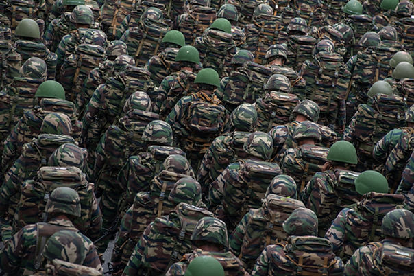 Armee-Soldaten in der Parade
