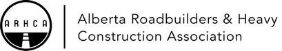 Alberta Roadbuilders and Heavy Construction Association logo - horizontal - black,