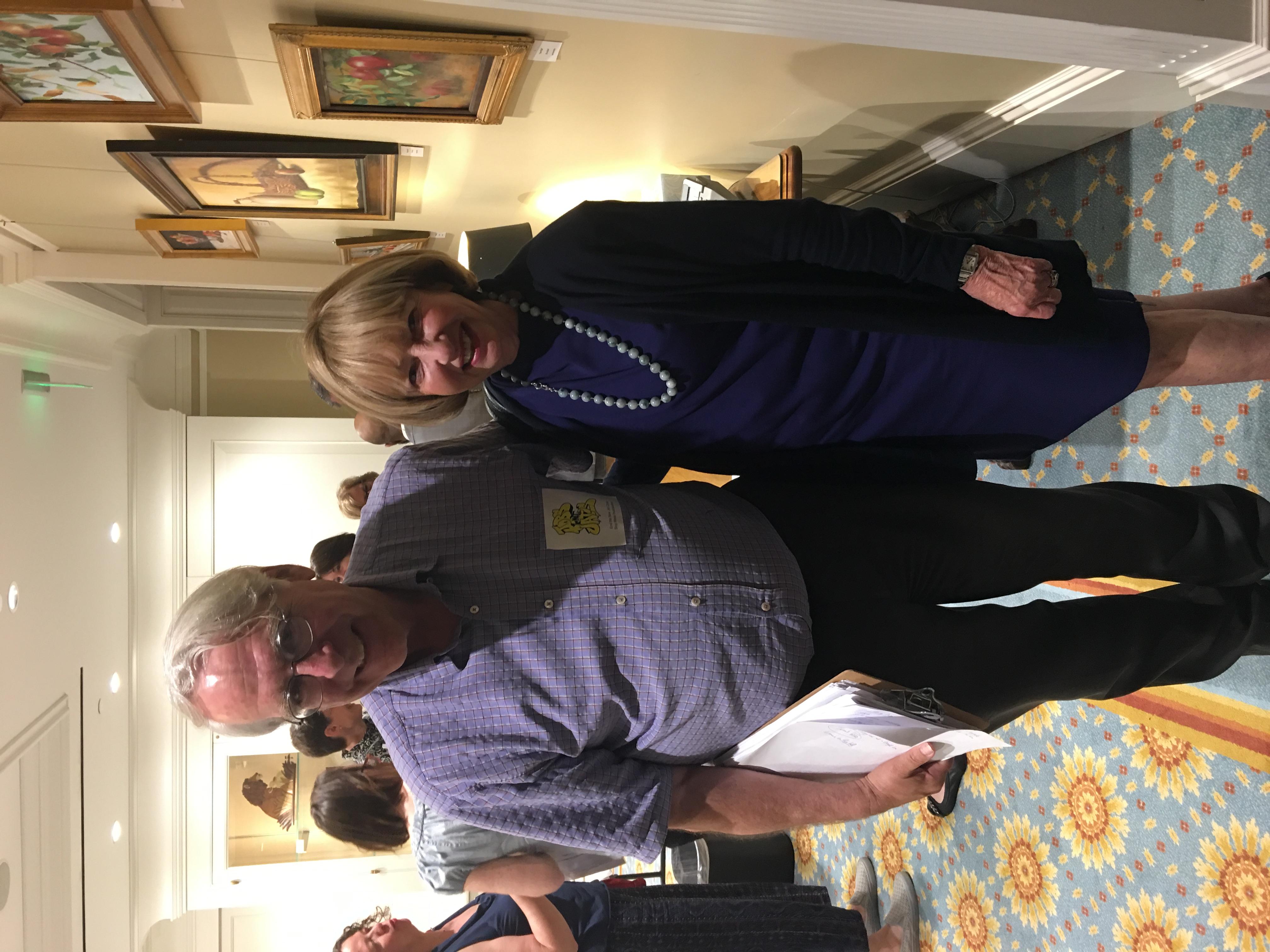 Senator Creem with Lew Finfer