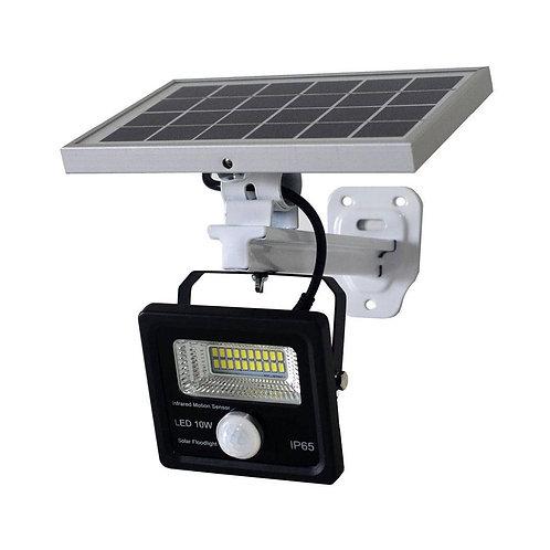Refletor Solar 10 W com Sensor de Presença e Suporte
