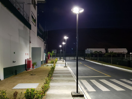Luminárias Solares da Fotovolt iluminam a primeira Usina Biotérmica do Nordeste