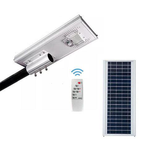 Luminária Solar 50 W All in One para postes de 3 a 4 m 2.100 Lúmens