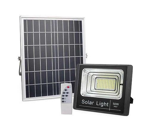 Refletor Solar 50 W com Controle 2000 Lúmens