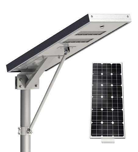 Luminária Solar 60 W All in One para postes de 5 a 6 m 8000 Lúmens