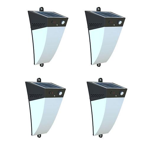 Kit com 4 Arandela Solar 400 Lúmens com Sensor de Presença