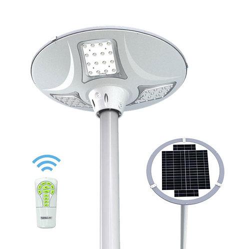 Luminária Solar Plaza 20 W com Controle para poste de 4 m 2.000 Lúmens