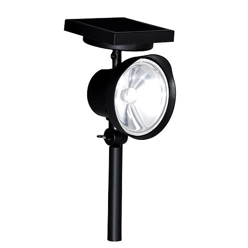 Luminária Solar Spot 1 W para Piso, Gramado ou Parede 60 Lúmens