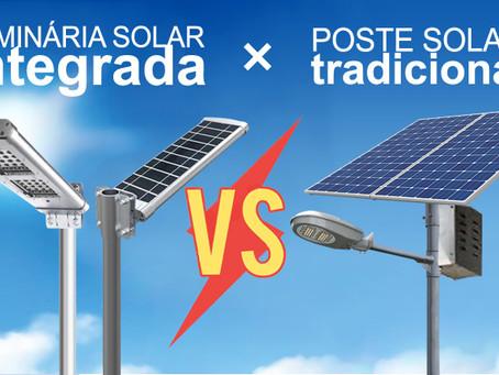 Vantagens das Luminárias Solares X Postes solares tradicionais