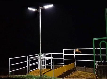 Usinas hidrelétricas da Hy Brazil com luminárias solares da Fotovolt
