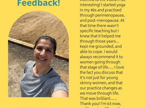 Watch my IGLive: How Yoga Can help manage Peri-Menopausal symptoms. Click link below image