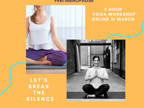 Yoga for Peri-Menopause Workshop 21st March 2021