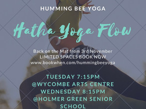 Yoga Classes starting soon in High Wycombe and Holmer Green