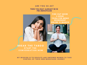 Next workshop 21st March - Upcoming Yoga for Menopause Workshops