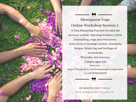 Menopause Yoga Workshops