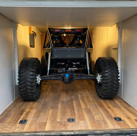 Toy Hauler with Happy Jacks lift up bed