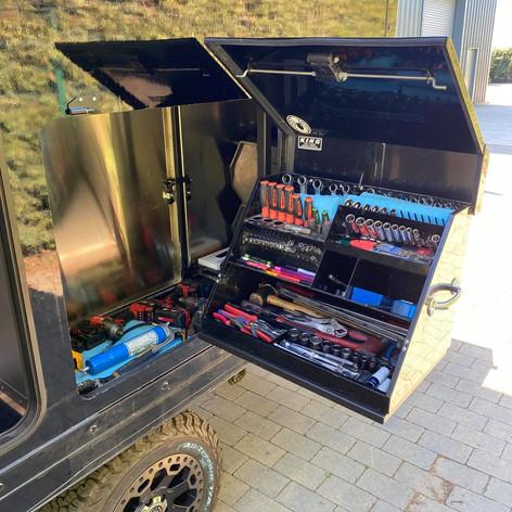 Tool box access hatch