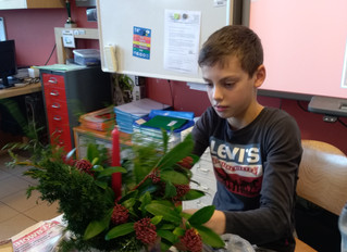 Kerstmis: knutselen met onze peters en meters