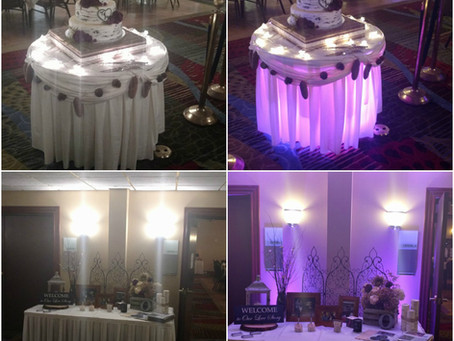 Wedding and Venue Up lighting- Taking your special day's décor from Blah to Wow!!!