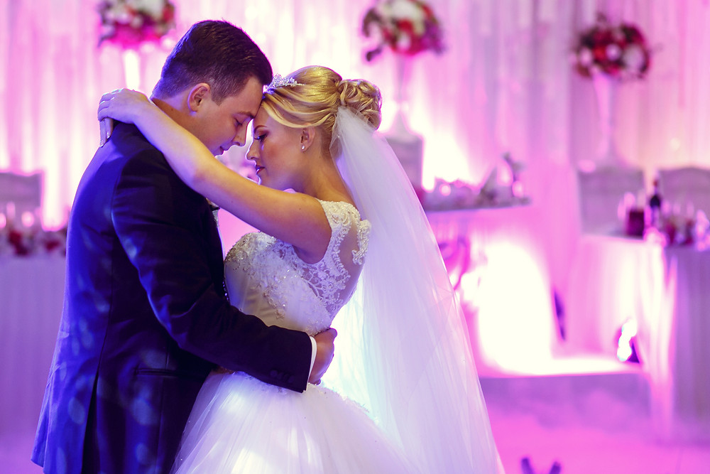 Beautiful Bride and Groom's First Dance