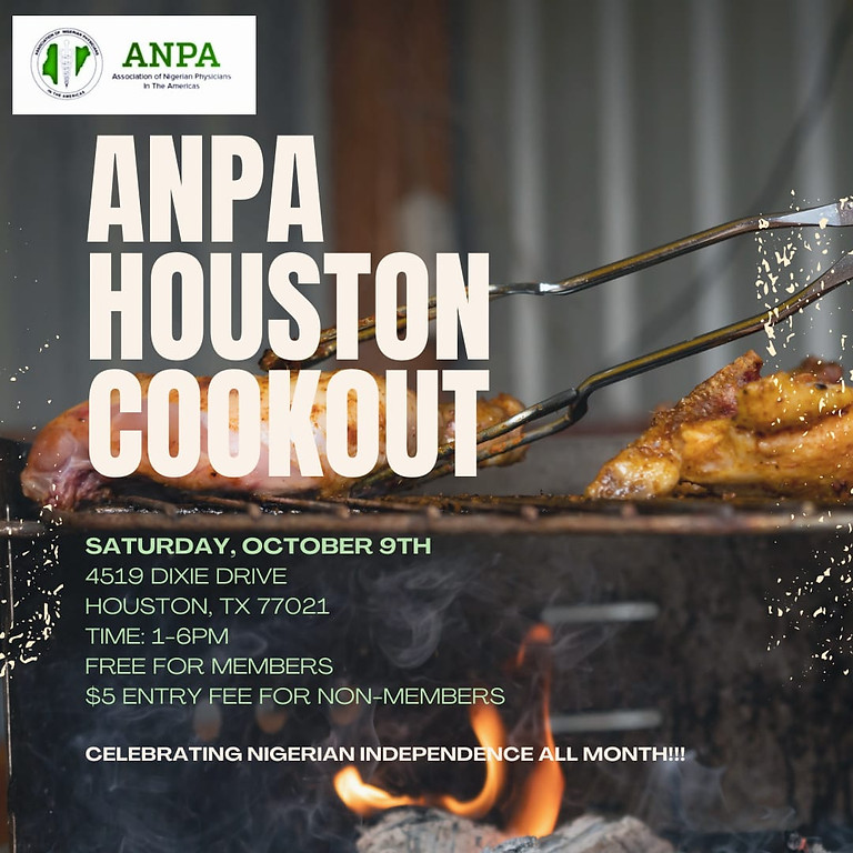 ANPA Houston Cookout