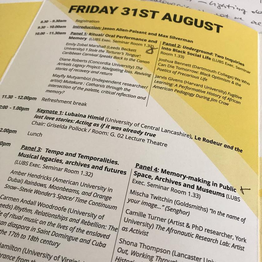 Day 1 of conference programme @ Francesco Ventrella