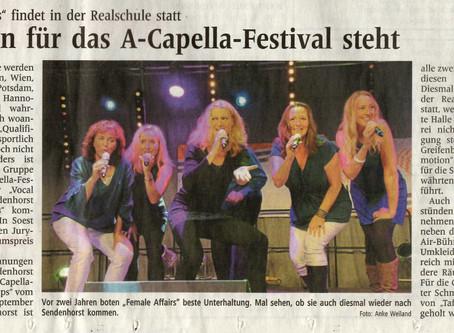 """""""Rahmen für das A-Capella-Festival steht"""" (WN Vorbericht)"""