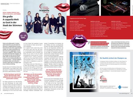 """""""Die große A-cappella-Welt zu Gast in der Stadt der Stimmen"""" (stadtland magazin Vorbericht)"""