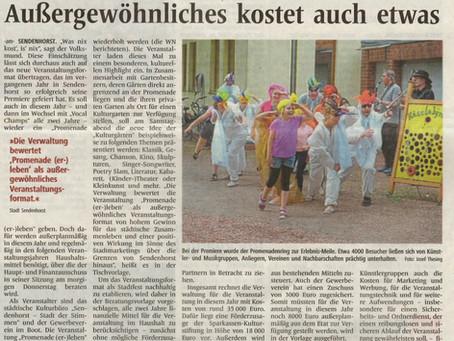 Finanzierung des Promenadenevents im Hauptausschuss der Stadt Sendenhorst (Presseberichte)
