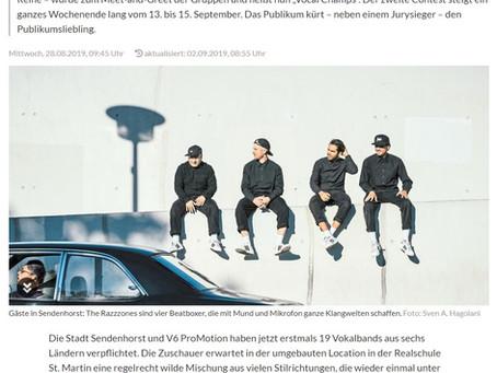 """A-cappella-Fest in Sendenhorst"" (WN Ankündigung)"