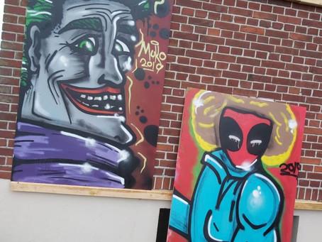 Graffitiwand an der Muko